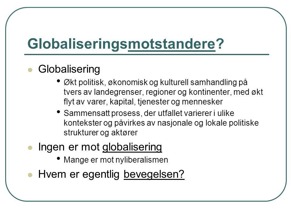 Globaliseringsmotstandere.