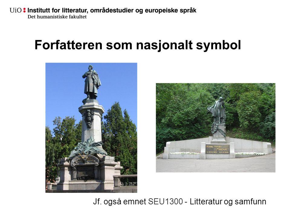 Forfatteren som nasjonalt symbol Jf. også emnet SEU1300 - Litteratur og samfunn