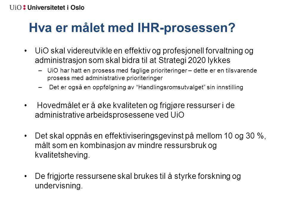 Hva er målet med IHR-prosessen.