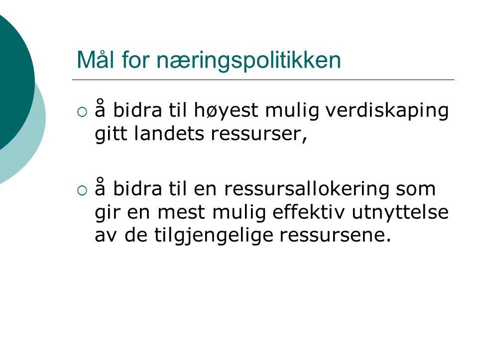Rammebetingelsene for næringsaktivitet er gode og fleksible i Norge og Norden.