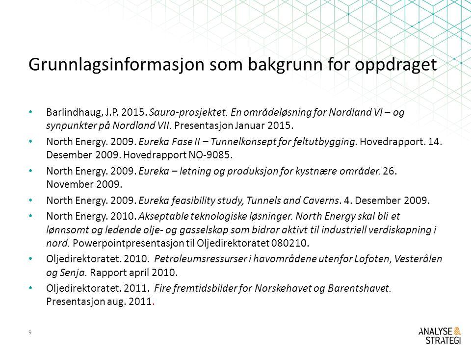 Grunnlagsinformasjon som bakgrunn for oppdraget Barlindhaug, J.P.
