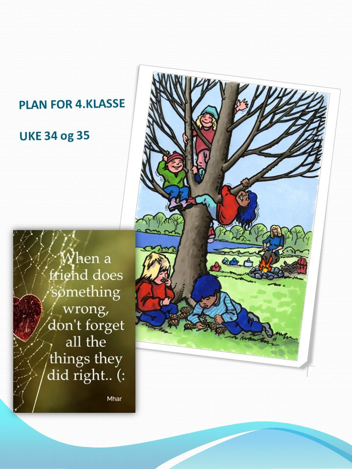 PLAN FOR 4.KLASSE UKE 34 og 35