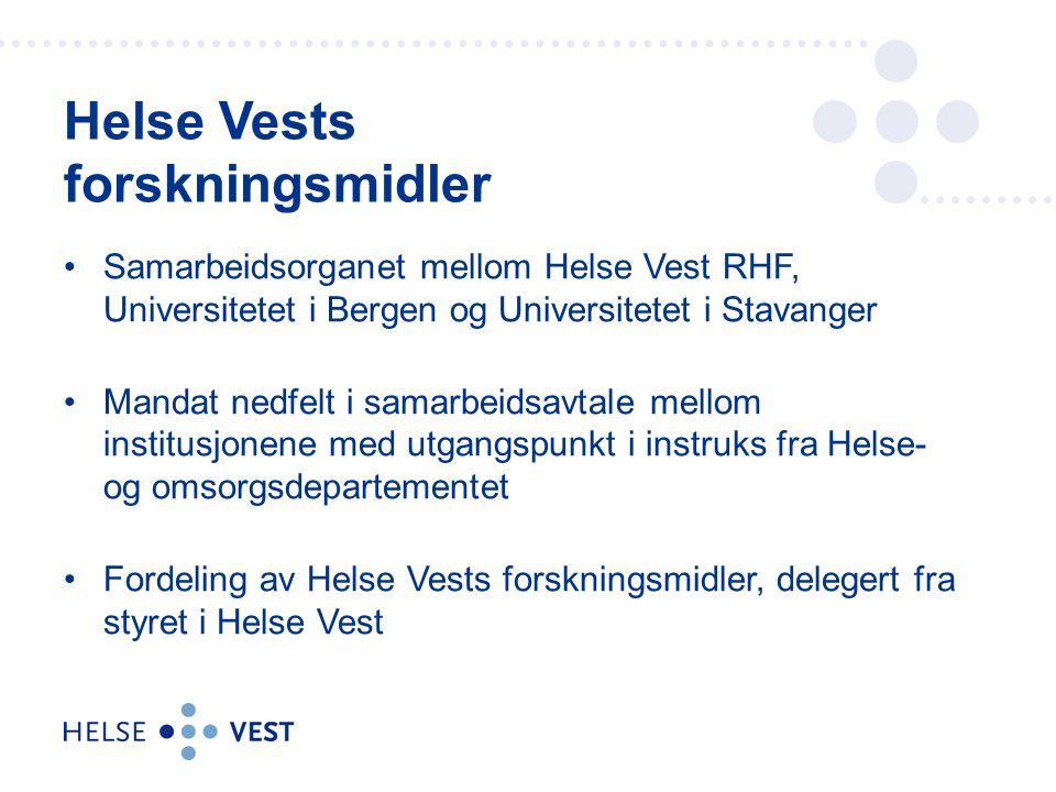 Samarbeidsorganet mellom Helse Vest RHF, Universitetet i Bergen og Universitetet i Stavanger Mandat nedfelt i samarbeidsavtale mellom institusjonene m