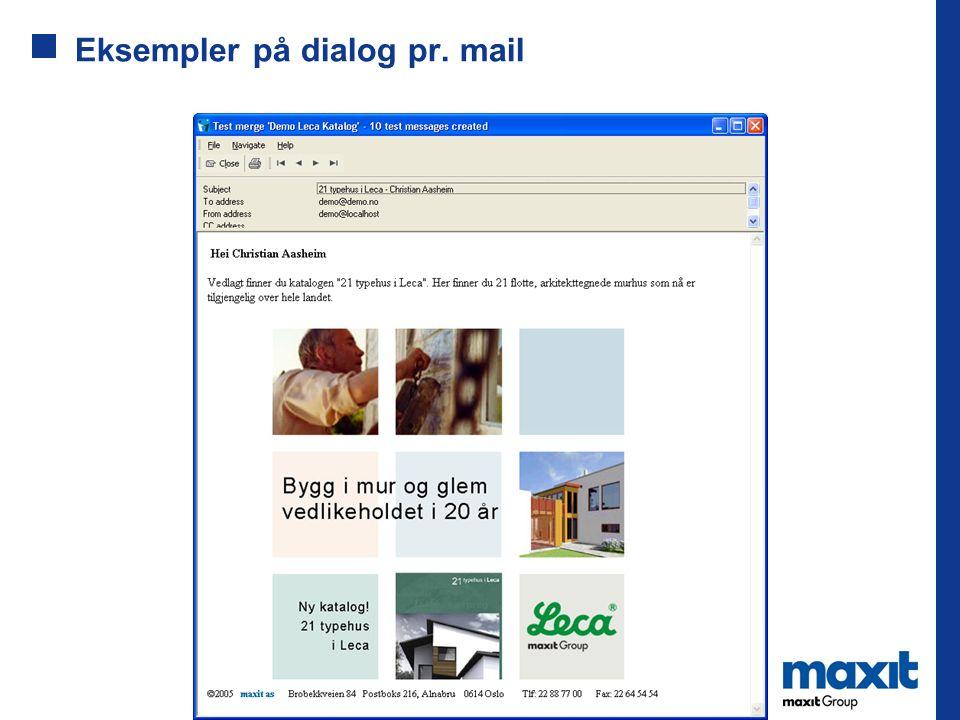 Eksempler på dialog pr. mail