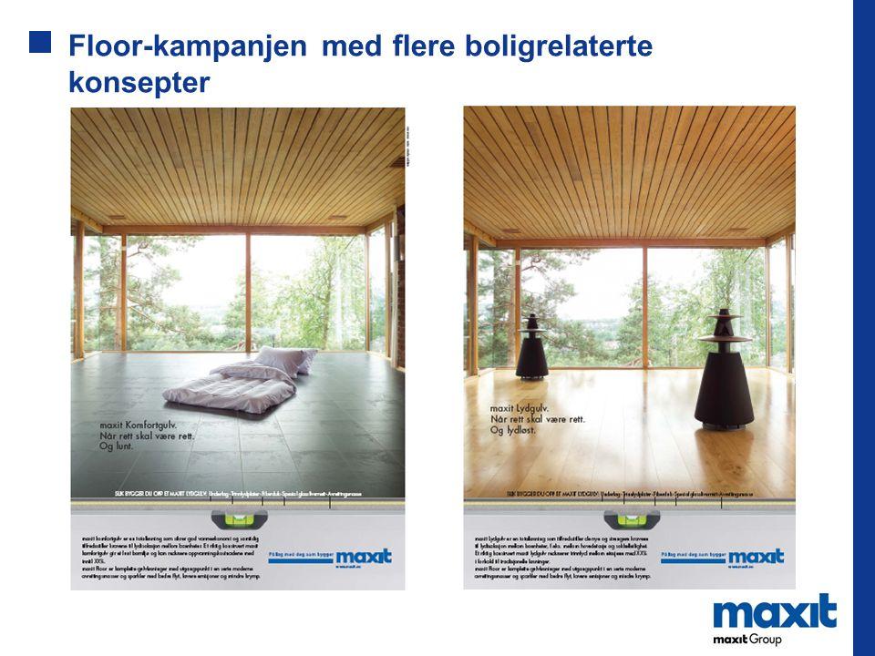Floor-kampanjen med flere boligrelaterte konsepter