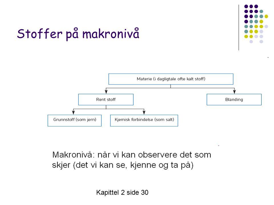 Kapittel 2 side 30 Stoffer på makronivå