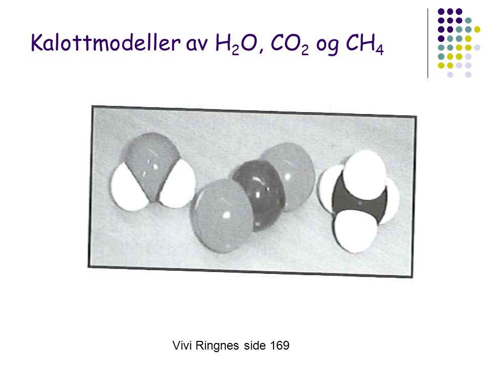 Vivi Ringnes side 169 Kalottmodeller av H 2 O, CO 2 og CH 4