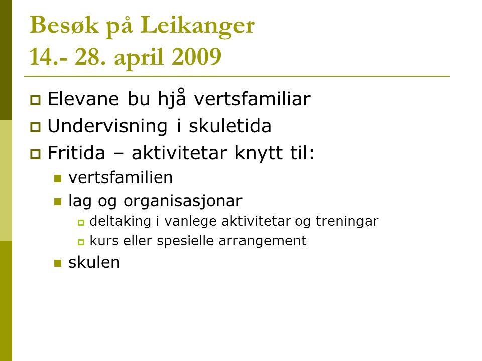 Besøk på Leikanger 14.- 28.