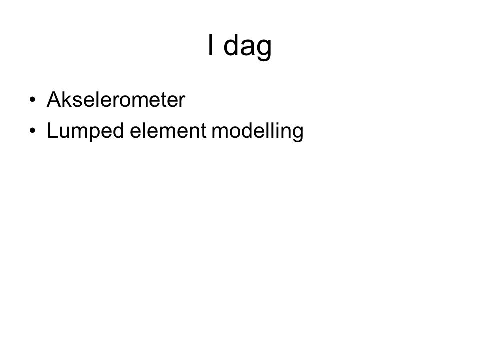 Hva er lumped element modelling.