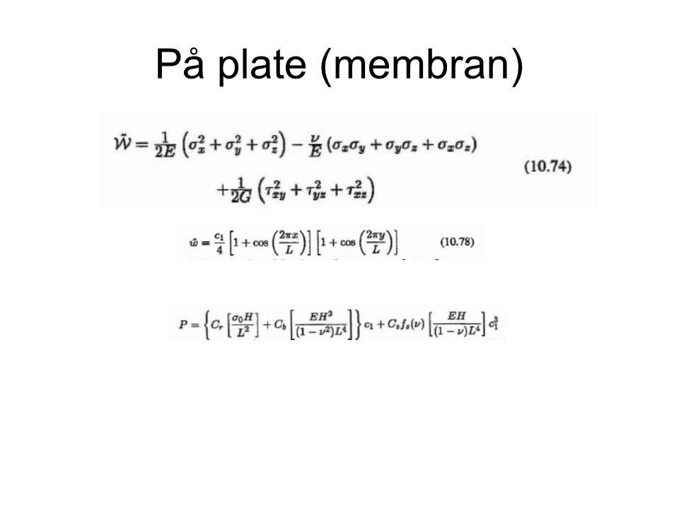 På plate (membran)