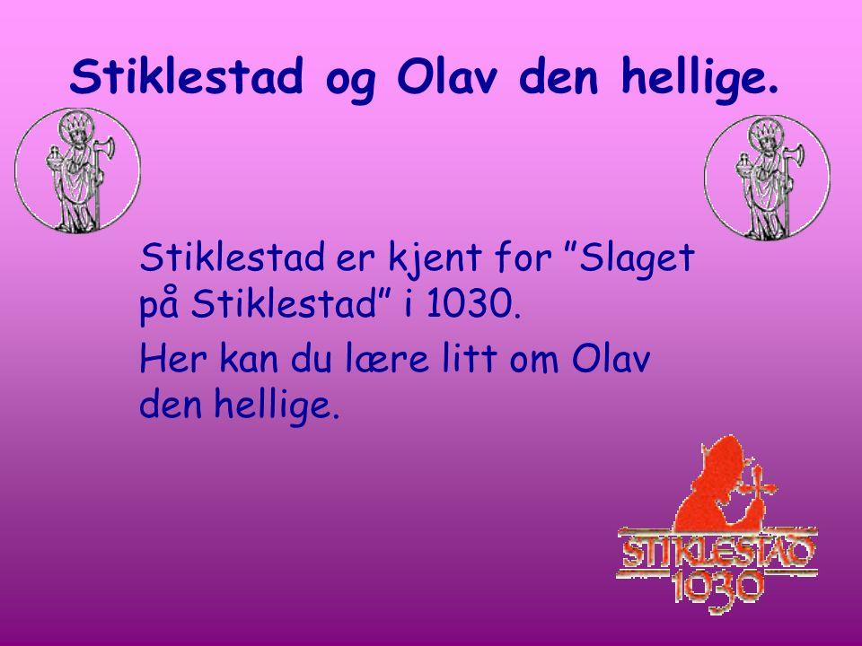 """Stiklestad og Olav den hellige. Stiklestad er kjent for """"Slaget på Stiklestad"""" i 1030. Her kan du lære litt om Olav den hellige."""