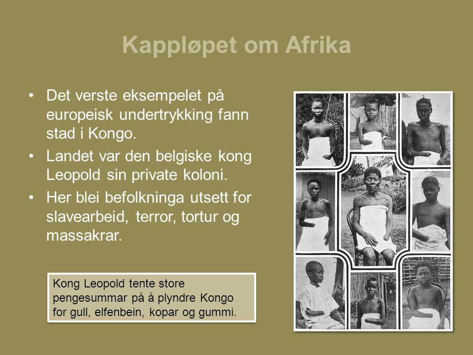 Kappløpet om Afrika Det verste eksempelet på europeisk undertrykking fann stad i Kongo.
