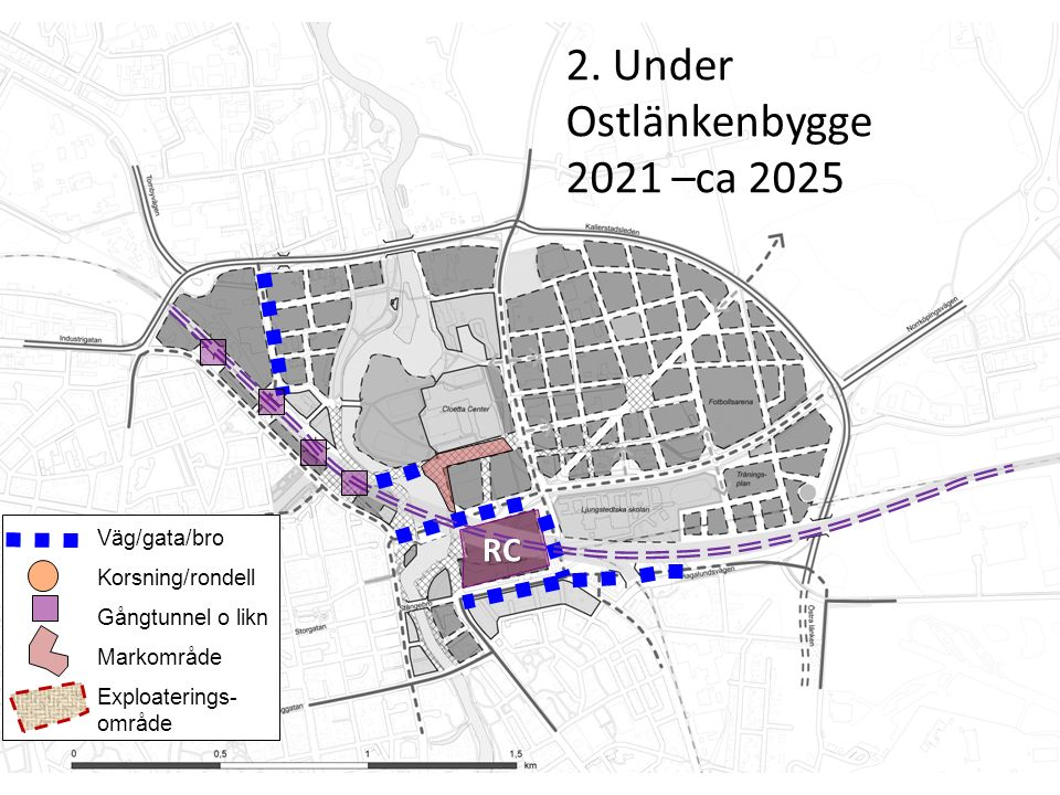Innan (2014 – 2020) Väg/gata/bro Korsning/rondell Gångtunnel o likn Markområde Exploaterings- område 3.