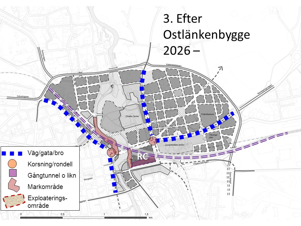 Innan (2014 – 2020) Väg/gata/bro Korsning/rondell Gångtunnel o likn Markområde Exploaterings- områden 4.