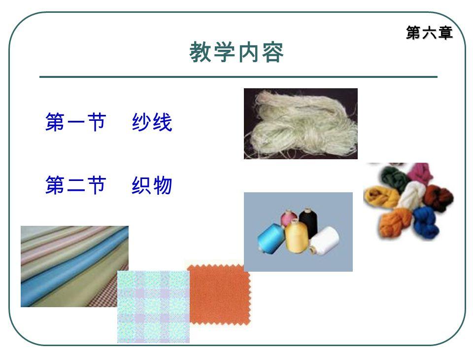 第六章 教学内容 第一节 纱线 第二节 织物