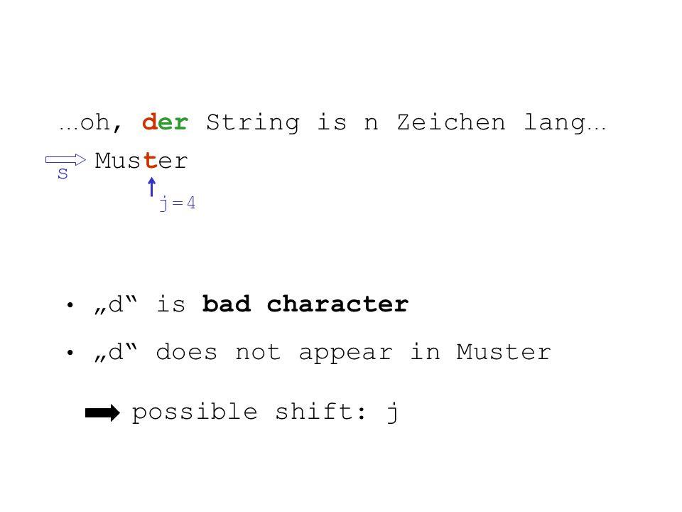 ... oh, der String is n Zeichen lang...
