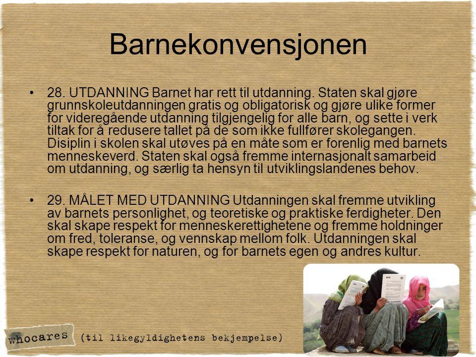 Jenter og utdanning Resultat mht.tusenårsmål nr.