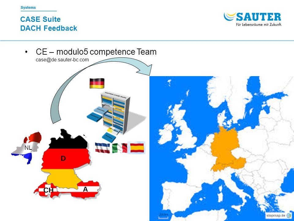 22.02.2016 NVO CASE Suite 3 CASE Suite DACH Feedback CE – modulo5 competence Team case@de.sauter-bc.com NL