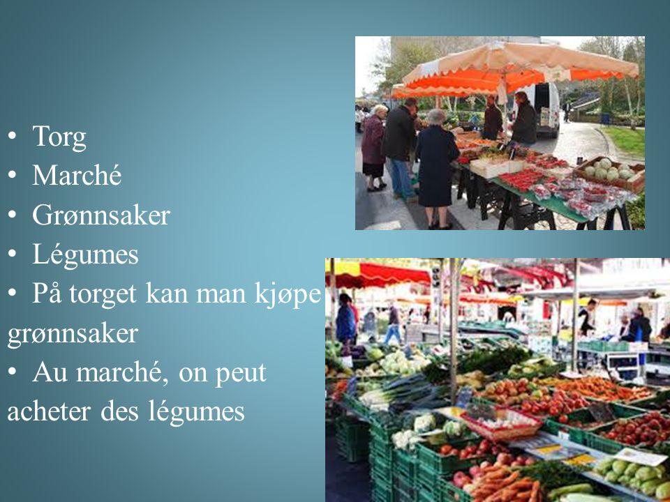 Torg Marché Grønnsaker Légumes På torget kan man kjøpe grønnsaker Au marché, on peut acheter des légumes