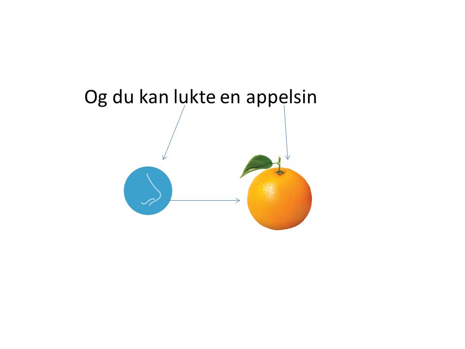 Og du kan lukte en appelsin