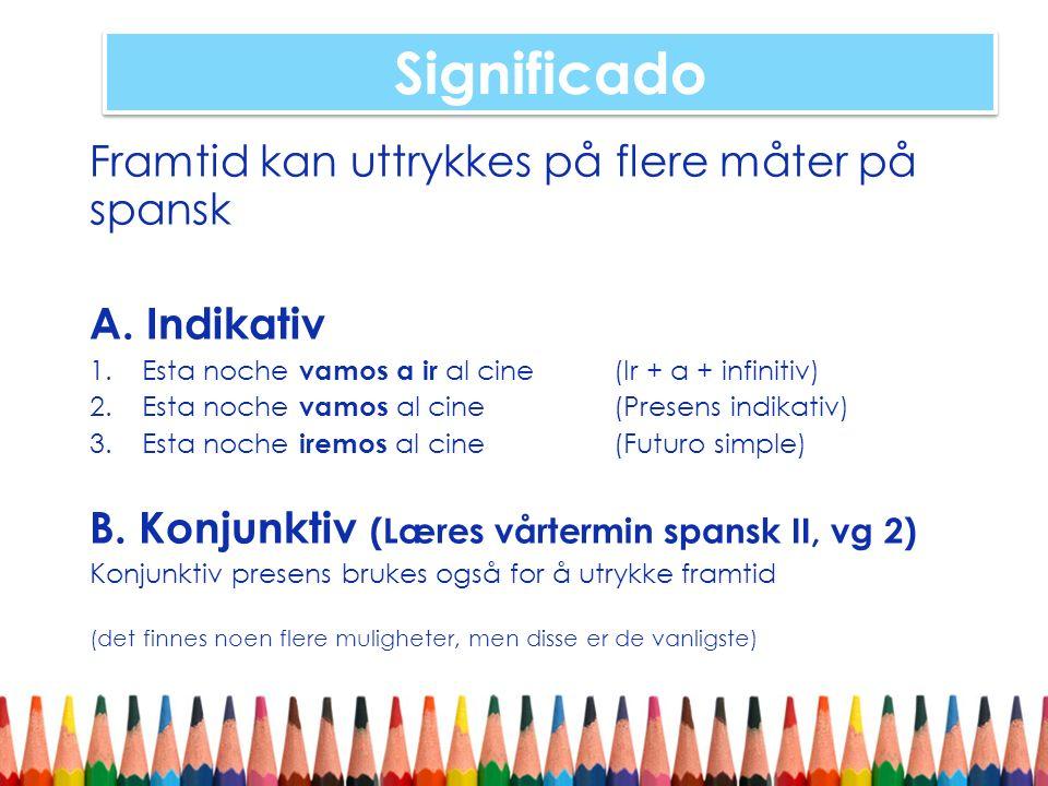 Vocabulario : El Tiempo Se på presentasjonen i pdf.