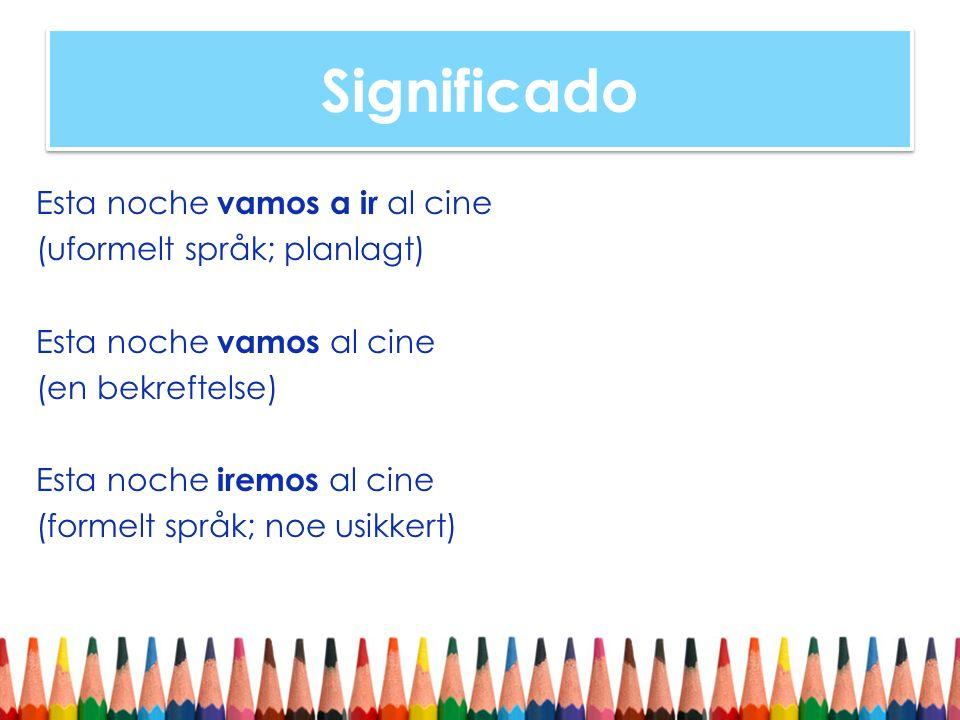 Significado Futuro (simple) Futruo simple brukes for generelt for å utrykke fremtidige handlinger og hendelser.