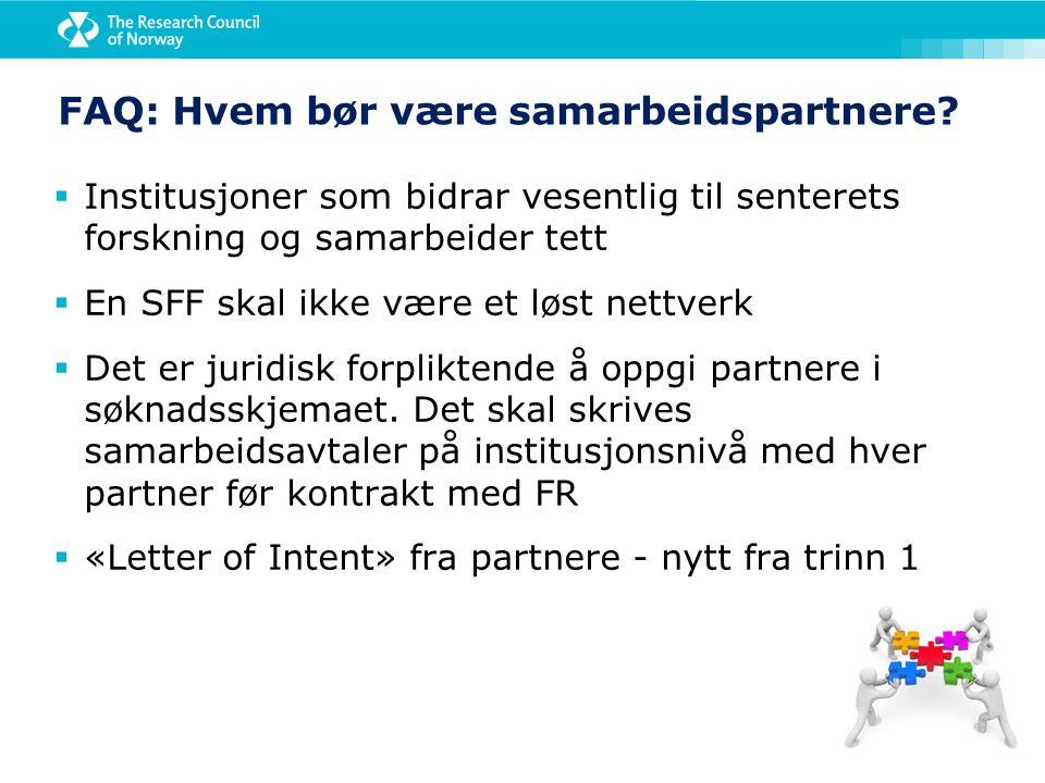 FAQ: Hvem bør være samarbeidspartnere.