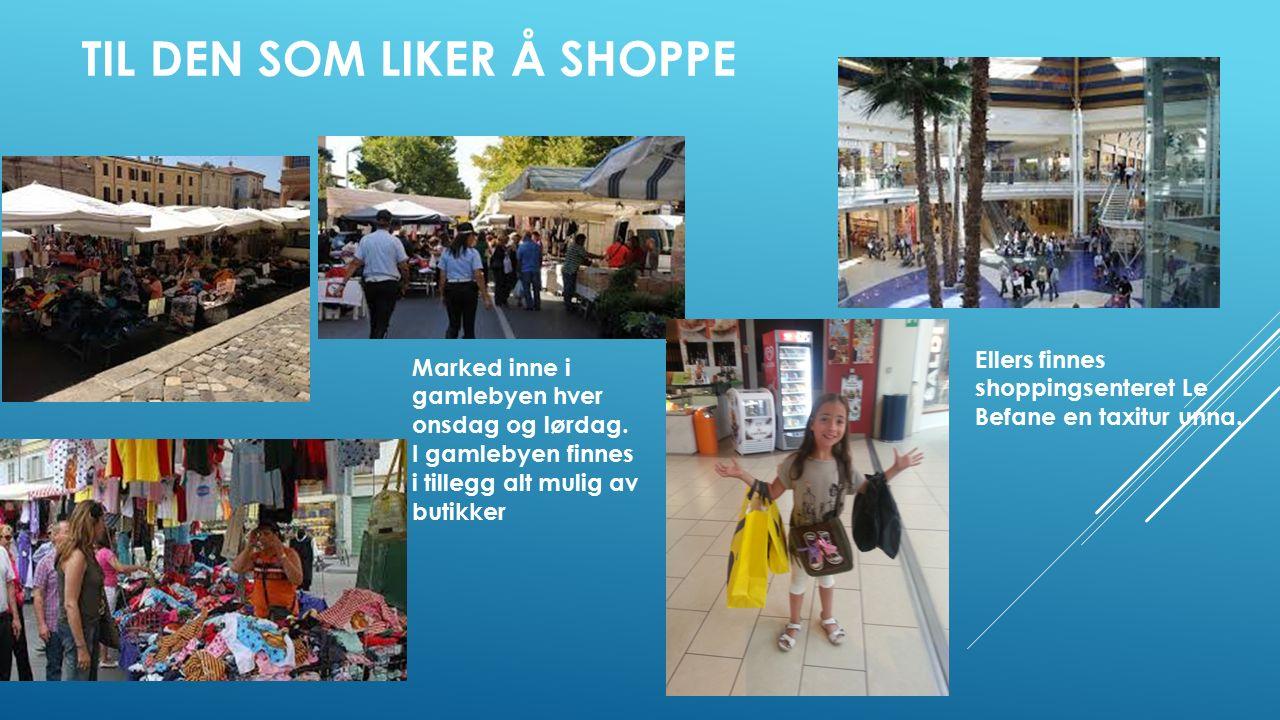 TIL DEN SOM LIKER Å SHOPPE Marked inne i gamlebyen hver onsdag og lørdag.