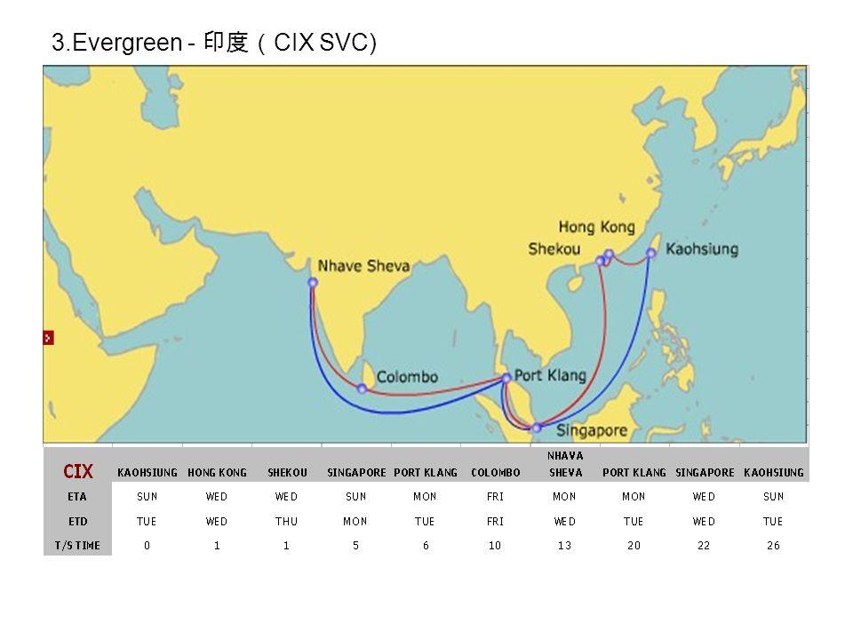 3.Evergreen - 印度( CIX SVC)