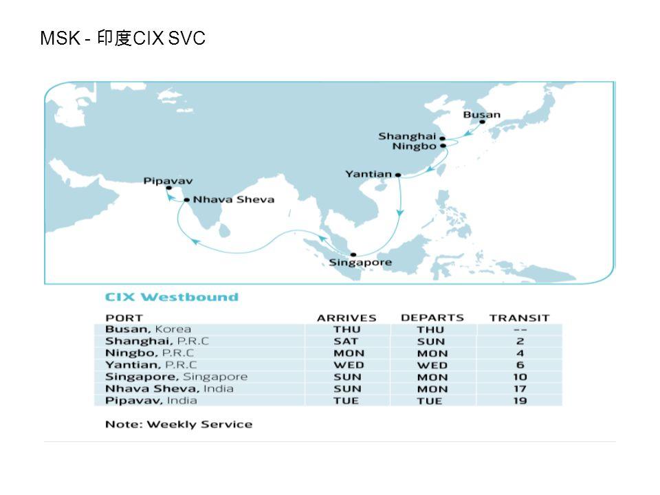 MSK - 印度 CIX SVC
