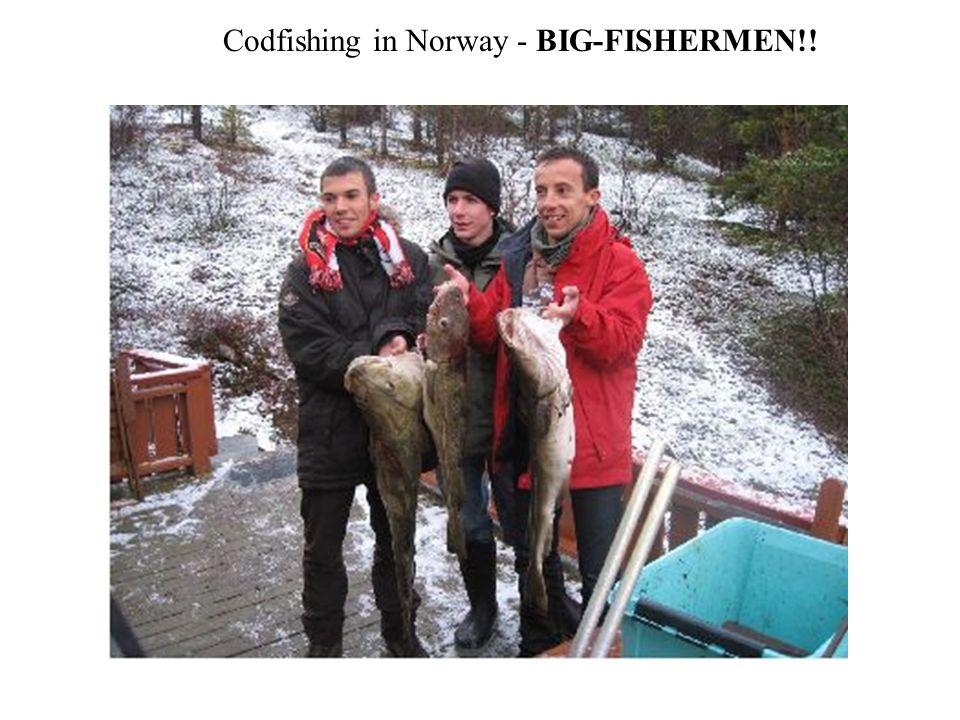 Codfishing in Norway - BIG-FISHERMEN!!