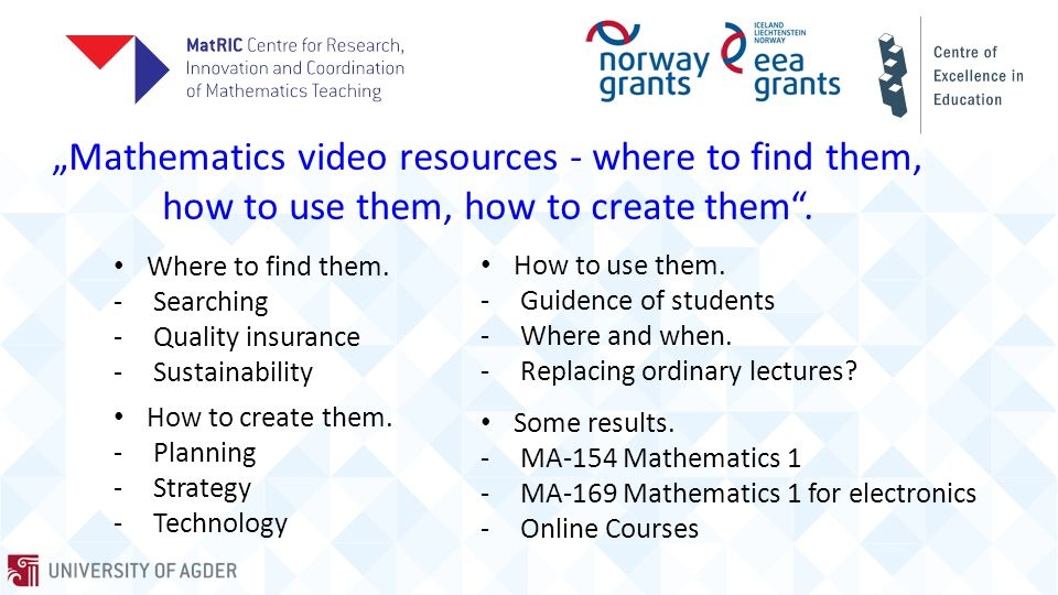 How to create them TRANSLATING VIDEOS FROM TONY CROFT'S MOOC-COURSE GETTING A GRIP ON MATHEMATICAL SYMBOLISM GETTING A GRIP ON MATHEMATICAL SYMBOLISM