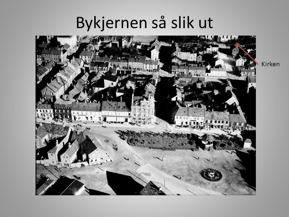 Bykjernen så slik ut Kirken