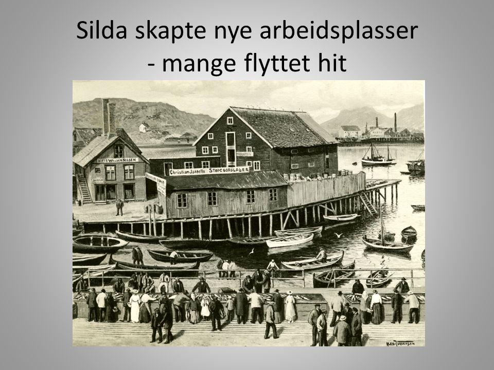 Alt måtte fraktes med båt.