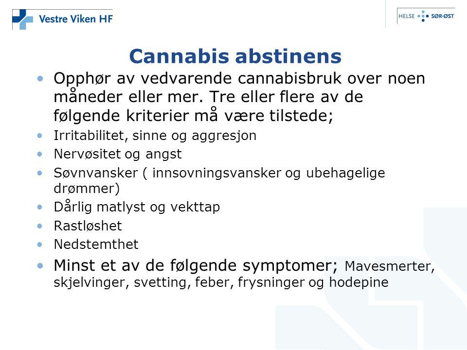 Cannabis abstinens Opphør av vedvarende cannabisbruk over noen måneder eller mer.
