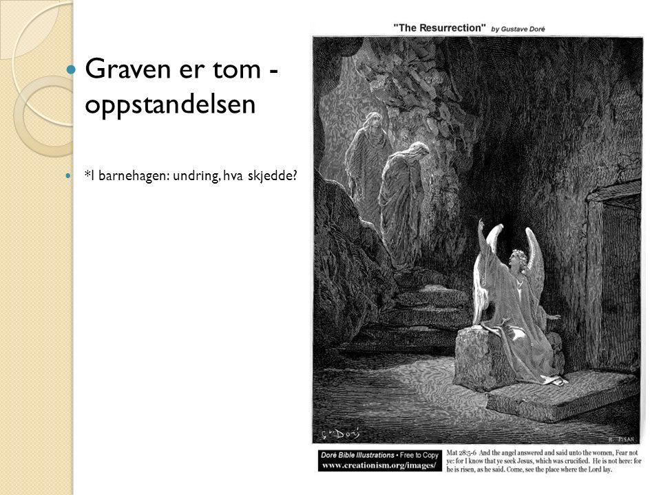 Graven er tom - oppstandelsen *I barnehagen: undring, hva skjedde?
