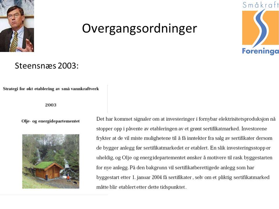 Overgangsordninger Steensnæs 2003: