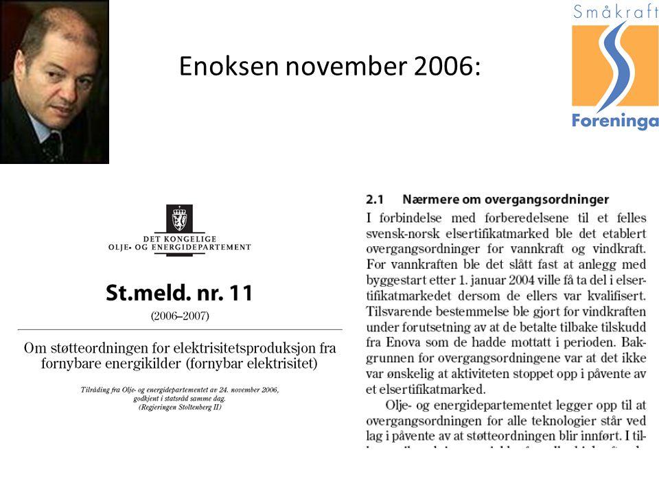 Enoksen november 2006:
