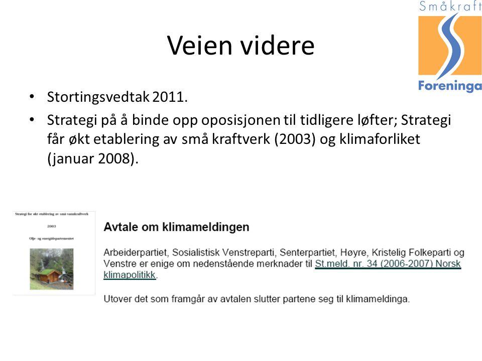 Veien videre Stortingsvedtak 2011.