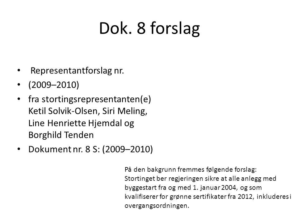 Dok. 8 forslag Representantforslag nr.