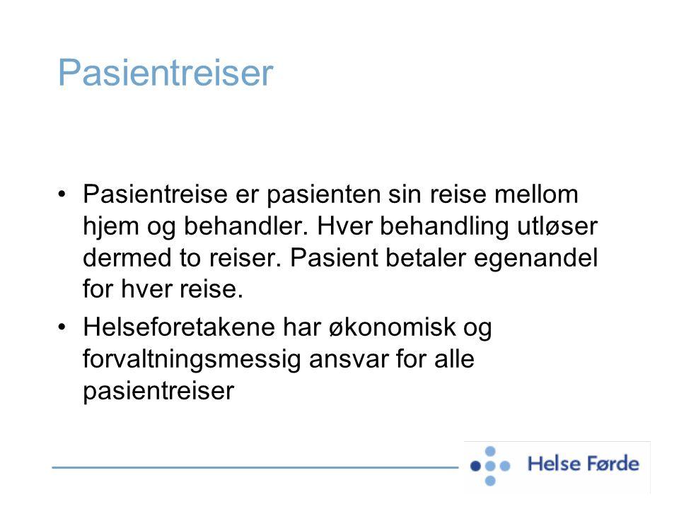Hvilket område har Pasientreiser Helse Førde ansvar for.