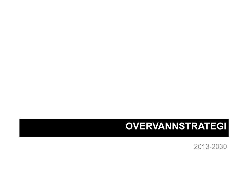 Handlingsplan for overvann Strategien skal konkretiseres i en handlingsplan –Hvilke tiltak (kost/nytte) skal gjøres hvor, når og av hvem Utvidet samarbeidsgruppe VAV har prosjektledelsen Skal oversendes byrådsavdelingen innen 1.