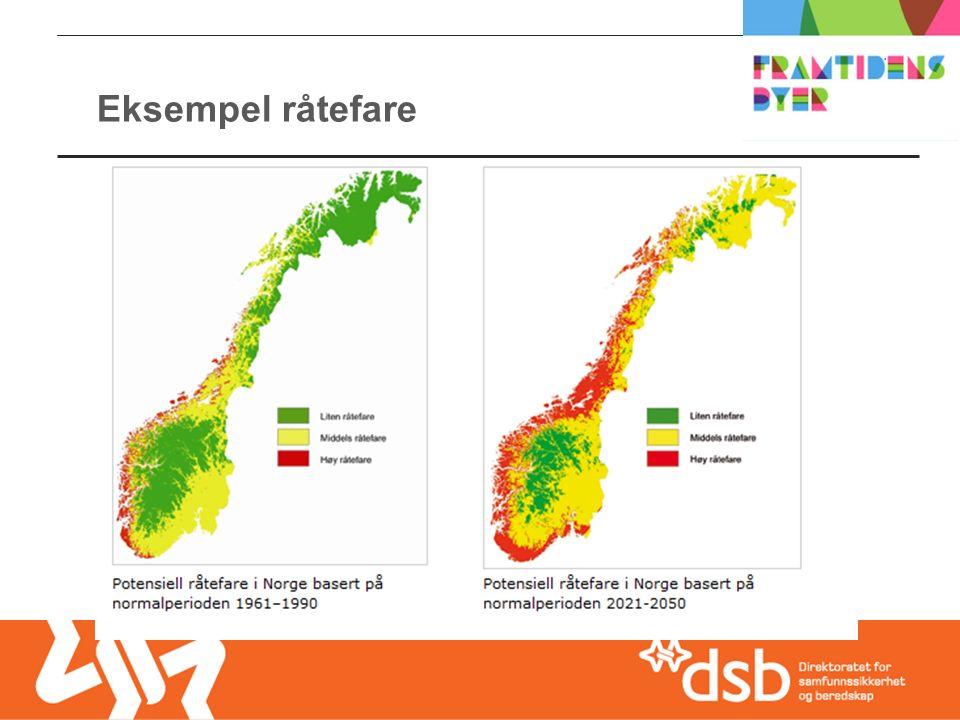 Eksempel råtefare Hva er relevant for området/bygget/omgivelsene/hvilke klimautfordringer er det viktigst å ta hensyn til .