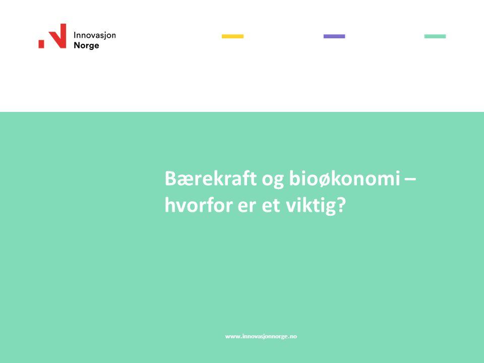 Bærekraft og bioøkonomi – hvorfor er et viktig? www.innovasjonnorge.no