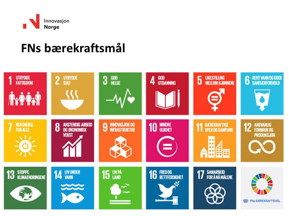 FNs bærekraftsmål www.innovasjonnorge.no