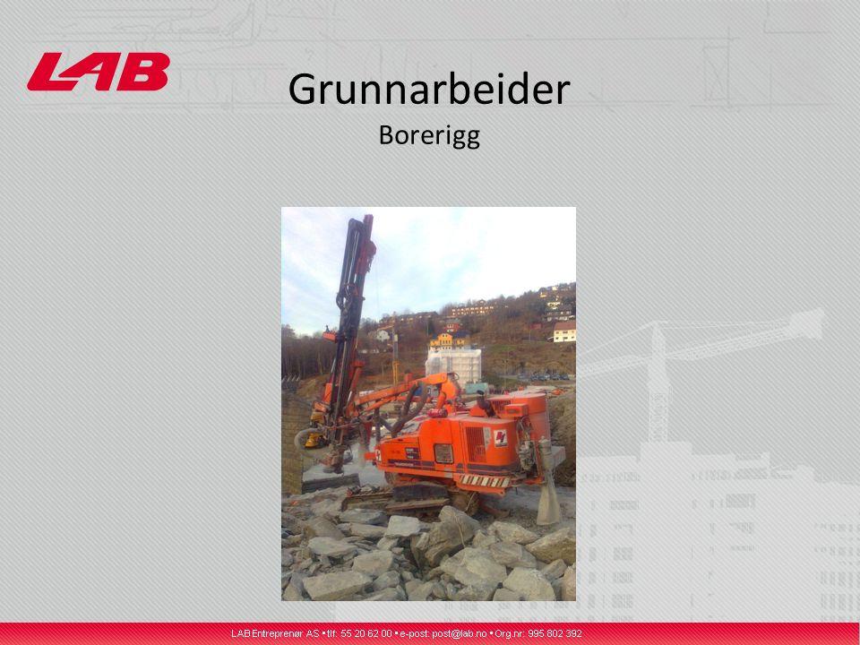 Grunnarbeider Borerigg