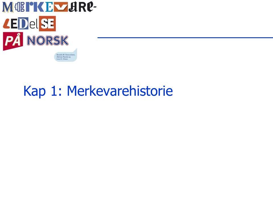 Eksempel: Salg av merkevarer Solgt for 60 mill.