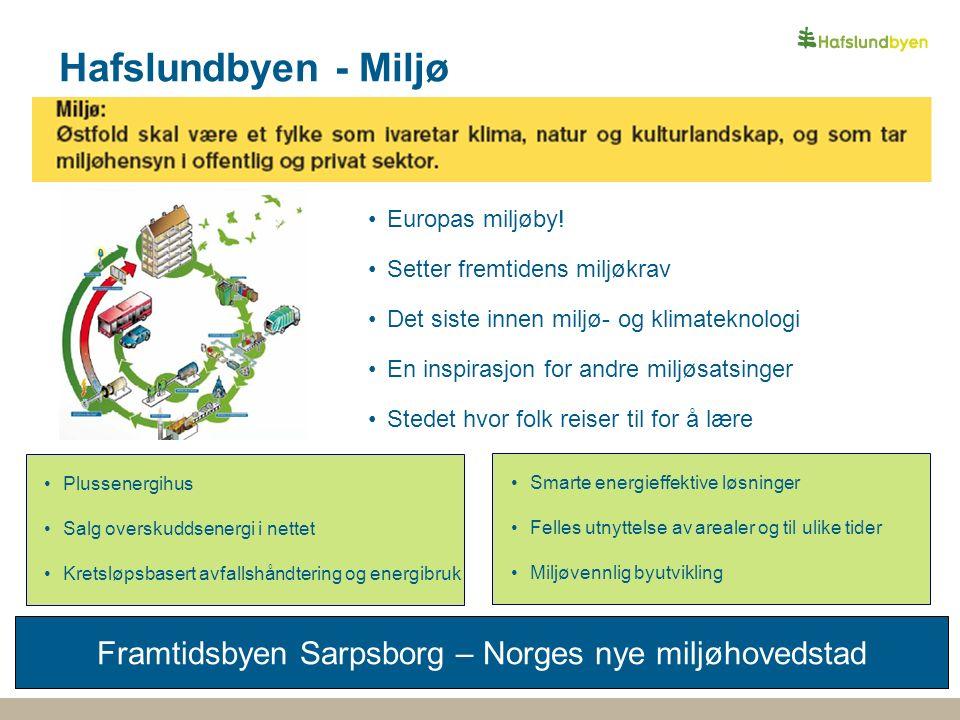Hafslundbyen - Miljø Framtidsbyen Sarpsborg – Norges nye miljøhovedstad Europas miljøby.