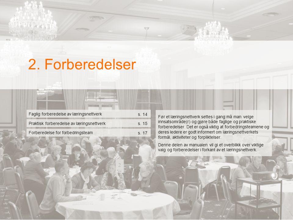  2. Forberedelser Faglig forberedelse av læringsnettverk s.