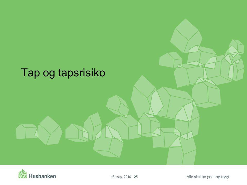 16. sep. 2016 25 Tap og tapsrisiko